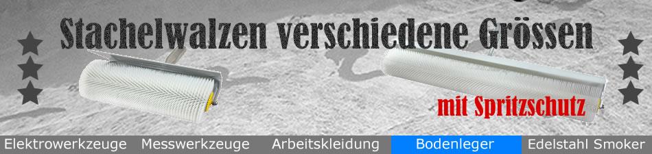 Bodenleger Stachelwalze mit Spritzschutz