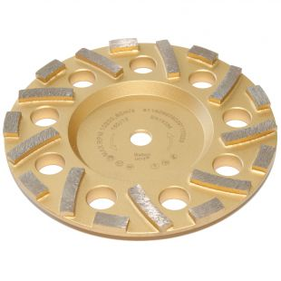 Diamantschleifteller gold - Ø150mm