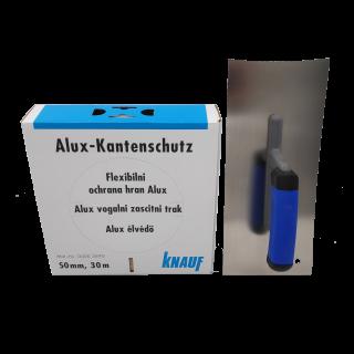 DEWEPRO Glättekelle 280x120mm konkav + Knauf - Alux-Kantenschutz 30m