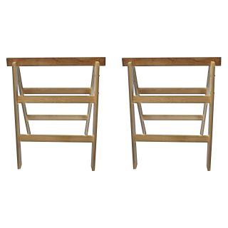 2 x Holz-Klappbock 2 sprossig