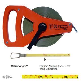 """Richter Glasfaserbandmass - Kunststoffrahmen Typ """"R"""" - 25m - A - cm/cm"""
