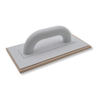 Fugbrett Zellkautschuck beige - Trägerbrett aus Polystyrol gefertigt - 8mm Zellgummibelag- 280x140mm- Farbe: beige
