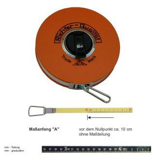 "Richter Stahlbandmass nichtrostend - Platalkapsel Typ ""P"" - 10m - A - mm"