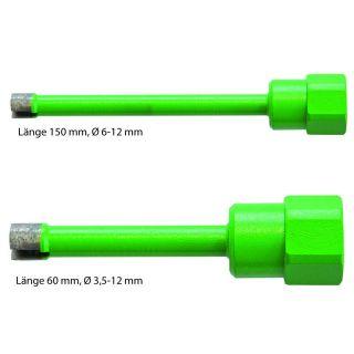 Diamant-Nass-Vollbohrkronen M 12 - ab Ø 3,5mm