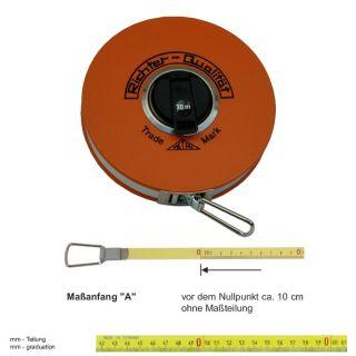 "Richter Stahlbandmass mit Polyamid ummantelt - Platalkapsel Typ ""P"" - 10m - A - mm"