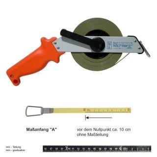 "Richter Stahlbandmass nichtrostend - Leichtmetallrahmen Typ ""SR"" - 10m - A - mm"