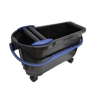 Profi-Clean Waschbox 24l inkl. Räder und Doppelrollenaufsatz