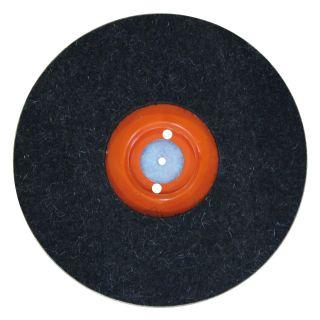 Filzscheibe auf Kunststoffteller geklebt - Ø250mm