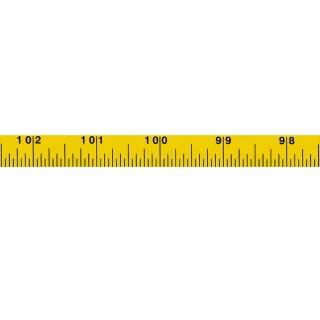Skalenbandmaß Duplexteilung - 200inches - 13mm - rl - gelb