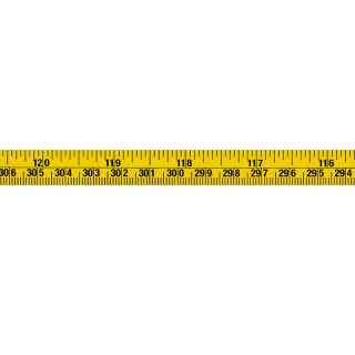Skalenbandmaß mm+ inches - 300cm - 120inches - 13mm - rl - gelb