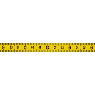 Skalenbandmaß Duplexteilung ab 40-0-40 - gelb