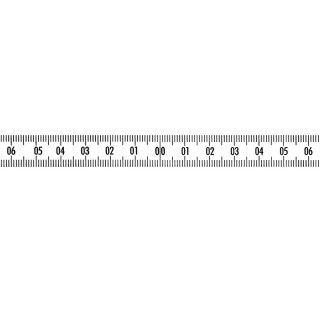 Skalenbandmaß Duplexteilung - 40-0-40 - 13mm -  lr-steigend -  weiß