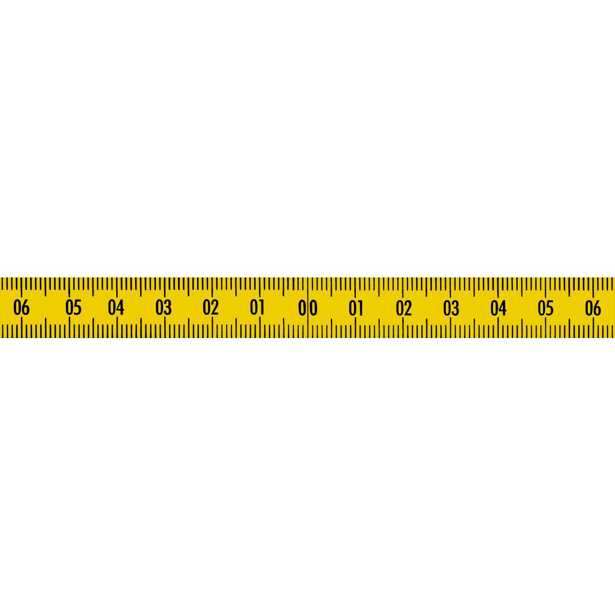 Skalenbandmaß Stahl Bezifferung unten nach oben 13mm gelb Duplex selbstkelbend