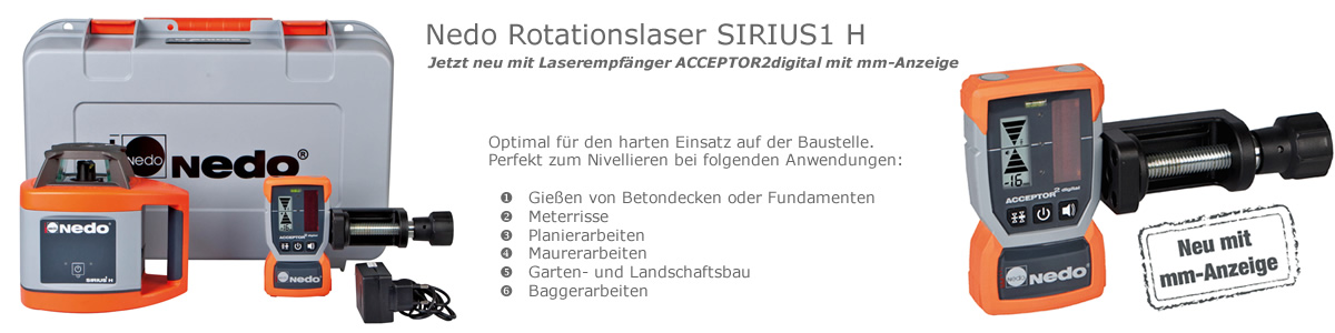 Nedo Rotationslaser Sirius 1H