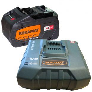 Premiumpaket Akkupack: Schnellladegerät + 1 Zusatz Akkupack 8,0 Ah / 18 V