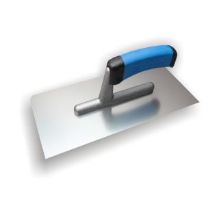 Glattekelle - MODELL PROFI abgerundet - Edelstahl glatt- mit 2-Komponenten-Griff- 270x130mm- eine Seite mit abgerundeten Ecken