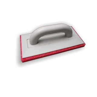 Reibebrett Schwammauflage grob - Trägerbrett aus Polystyrol gefertigt- grob-porige Schwamm-Auflage rot (20mm) - geschlossener Handgriff- 280x140mm