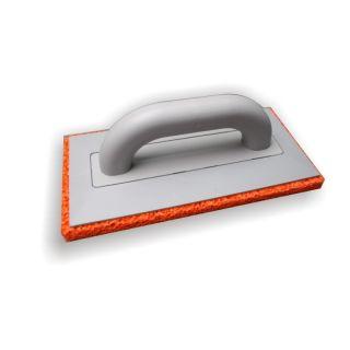 Reibebrett Schwammauflage grobporig weich - aus Polystyrol (PS), mit Schwammgummi-Auflage (20mm), 275x135mm