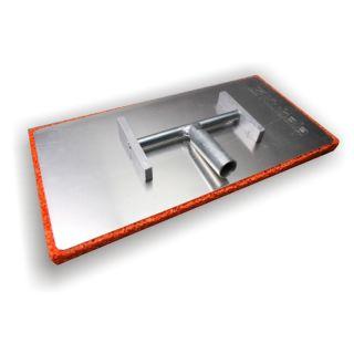 Egalisette (Alugelenkreibebrett) - hoch stabile Aluminiumplatte- Kippgelenk- Stieladapter mit integriertem Gewinde- Auflage aus 20mm starkem Schwammgummi - 400x200mm
