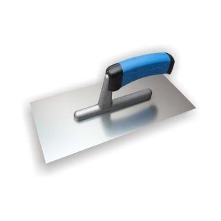 Glättekelle - MODELL PROFI-- Edelstahl - 2-Komponenten-Griff- 270x130mm- Zahnung: glatt