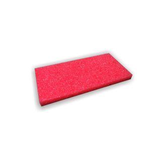 Ersatzauflage Schwammgummi grob rot