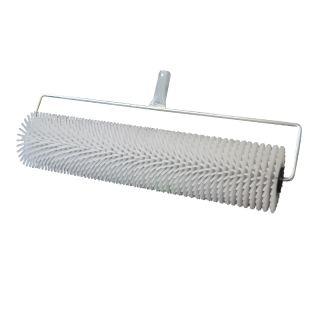 Stachelwalze 500mm - zum Entlüften von Bodenbelägen- Breite: 500mm- Stachellänge: 14mm (ø = 1,5mm)- Durchmesser der Walze: 75mm - mit Steckvorr. (geeignet für Stielaufnahme)