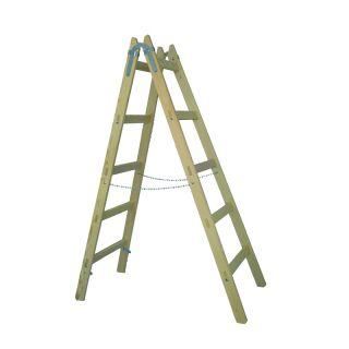 x-tools Holzleiter159cm - 5 Sprossen