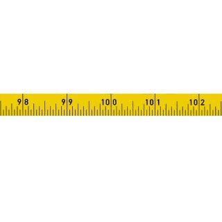 Richter Skalenbandmaß ''Duplexteilung'' - 200inches - 13mm - lr - gelb