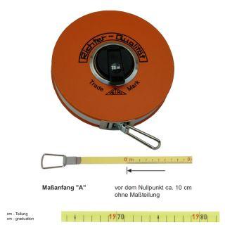 "Richter Stahlbandmass mit Polyamid ummantelt - Platalkapsel Typ ""P"" - 10m - A - cm"