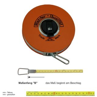 "Richter Stahlbandmass mit Polyamid ummantelt - Platalkapsel Typ ""P"" - 10m - B - mm"