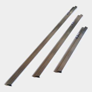 Set: Aluminium H-Profil-Kartätsche abgeschrägt - Längen: 100, 150, 200cm