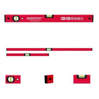 Wasserwaage rot lackiert - 2 Libellen - Längen: 100, 200cm
