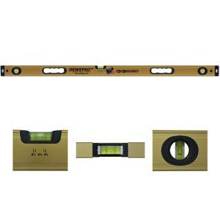 Wasserwaage gold 2 Griffe / 3 Libellen - Länge: 150cm