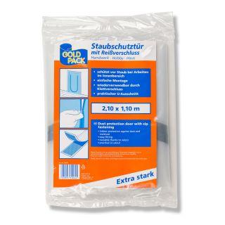 Goldpack Staubschutztür mit Reißverschluß 2,1 x 1,1m