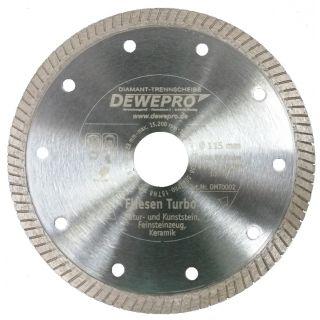 Dewepro Diamanttrennscheibe - Ø 125 mm Fliesen Turbo