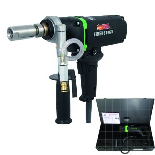 Diamant-Nass-Bohrmaschine END 1550 P schräge Ansicht mit Koffer