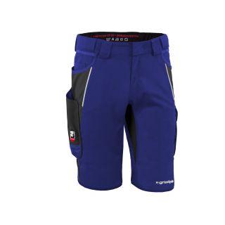 Grizzly - Shorts IRON kornblau/schwarz vorne