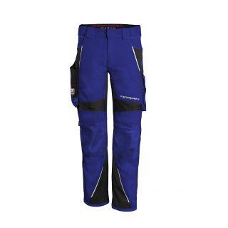 Grizzlyskin - Bundhose IRON kornblau-schwarz vorne