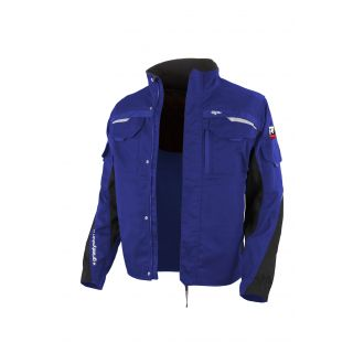 Grizzlyskin - Bundjacke IRON kornblau-schwarz vorne