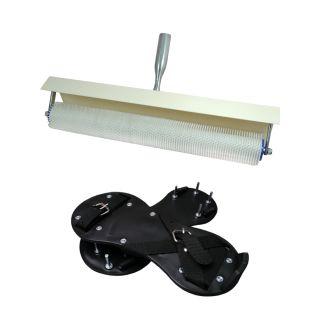 Stachelwalze mit Spritzschutz 500mm/11mm + Nagelschuhe - 25mm
