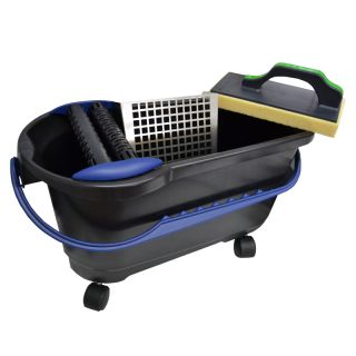 HUFA Profi-Clean Waschset Spezial inkl. Doppelrollenaufsatz mit Noppen + Bodensieb aus Metall + Wasc