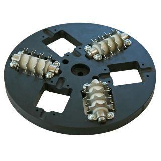 Perforierscheibe Ø 200 mm mit verschiedenen Anwendungsmöglichkeiten