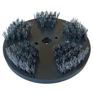 Edelstahlbürste zum Reinigen von Schalelementen, Farbe, Putz, Moos, Algen, Untergrund