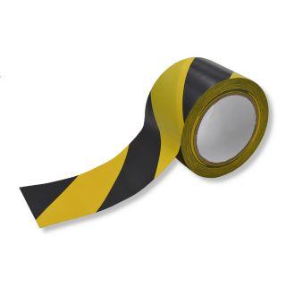 EasyTape Schwarz/Gelb gestreift 75mm