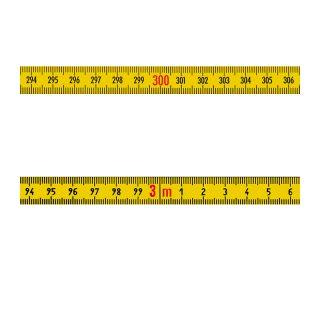 Richter Skalenbandmaß ''Duplexteilung'' - 0,3m - 13mm - lr - gelb