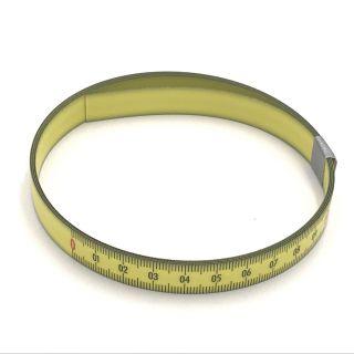 Skalenbandmaß Duplexteilung, 13 mm breit Bezifferung von links nach rechts Stahl, gelb mit Polyamidbeschichtung