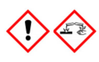 GHS05: Ätzwirkung GHS07: Ausrufezeichen